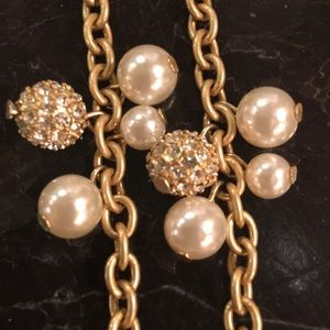 Pearl and pave sparkle necklace!!!